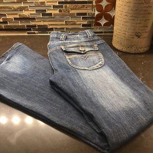 Easel flared bottom bell bottom jeans